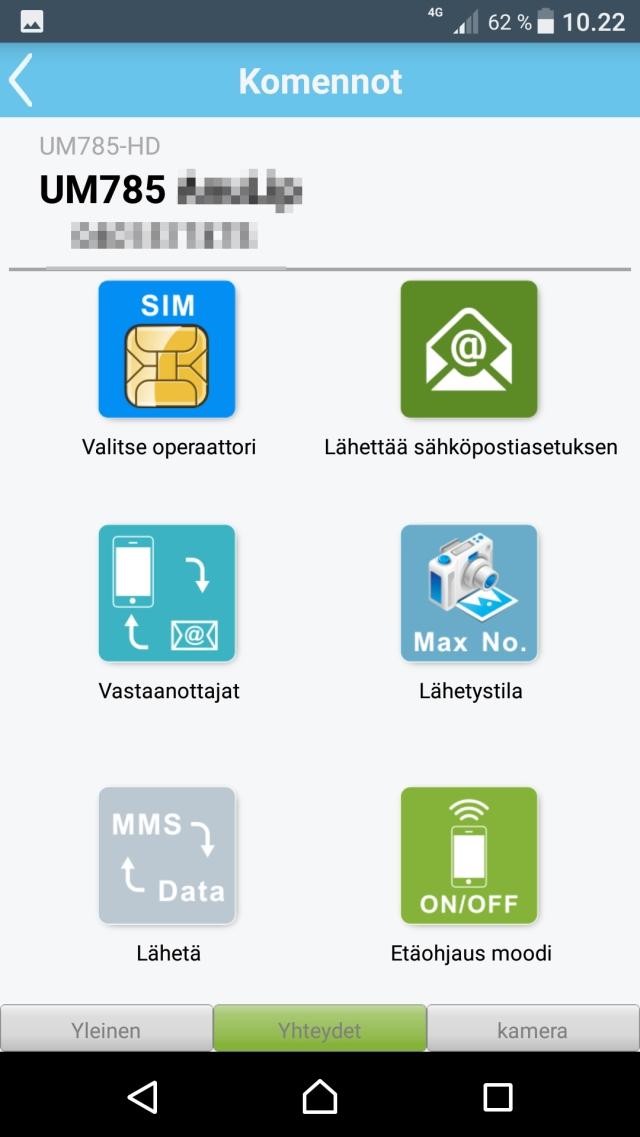 Uovision APP yhteydet