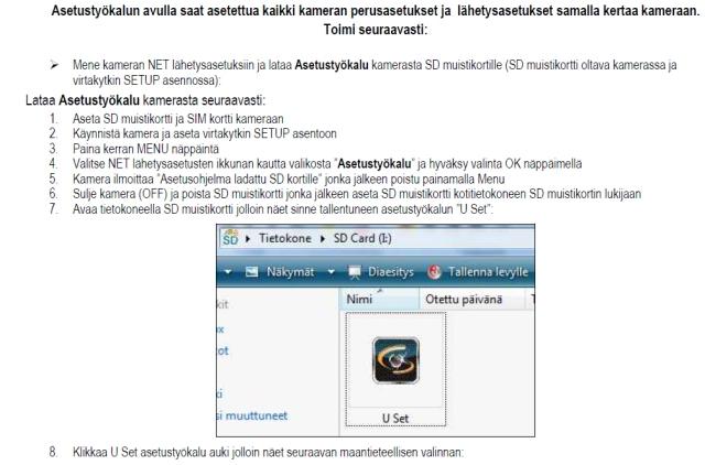 Uovision kayttoohje gen3 tietokoneasetusten haku kamerasta