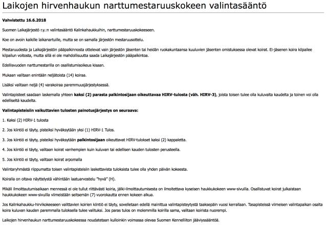 Kalinkahaukut valintasääntö kuvakaappaus 05082018